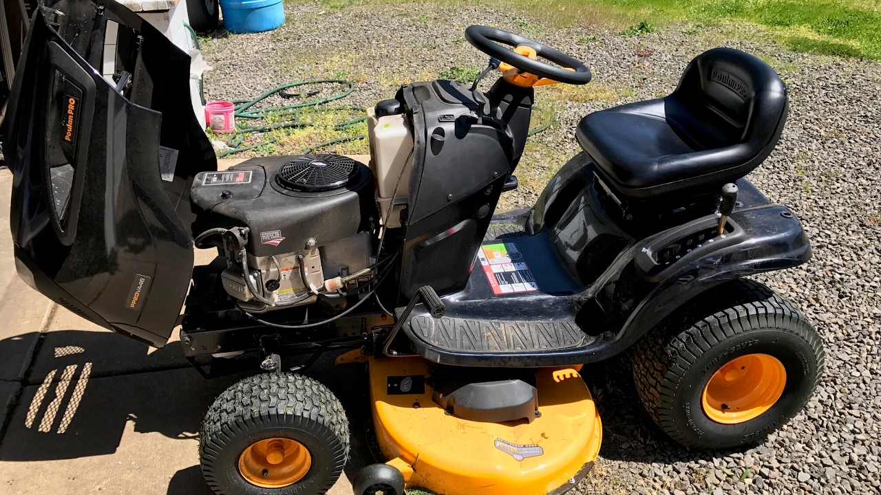 how to change oil and fuel filter on a riding lawn mower [ 1280 x 720 Pixel ]