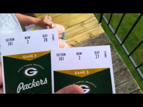 GreenBay Packers Lambeau Leap Zone NFL Tickets End Zone Front Row Seats?!