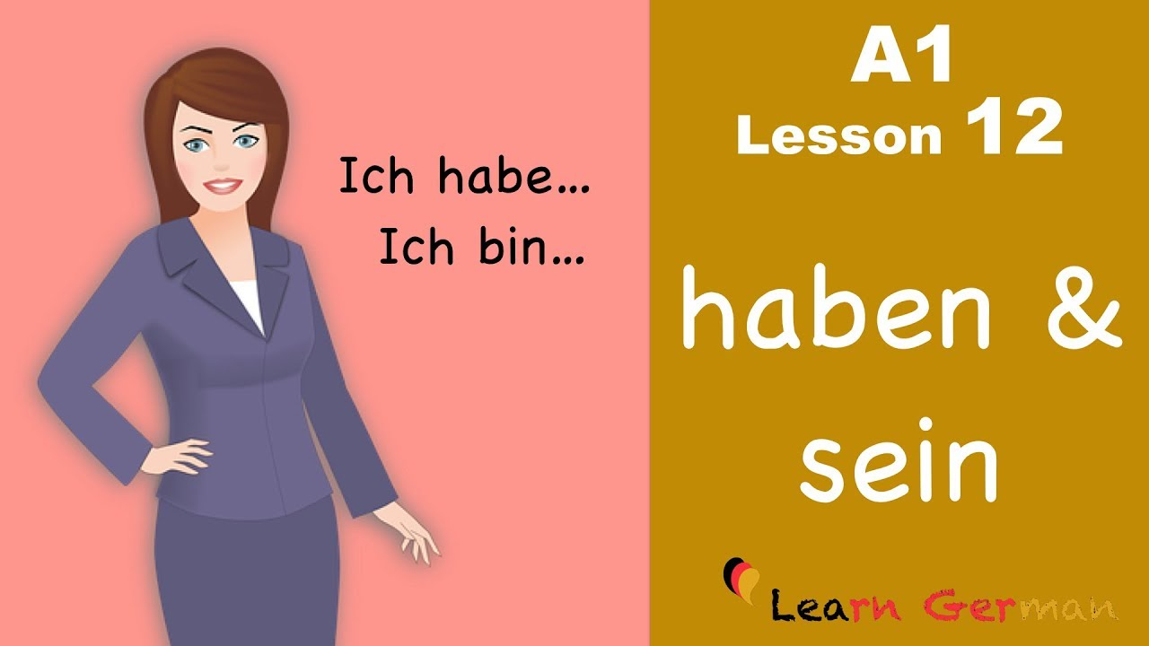Learn German for beginners A1 - Verb Conjugation (Part 1) - Lesson 12