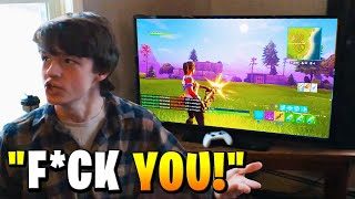 Kid Turns Off TV In Front Of Friends To play Fortnite.. (ENDS BADLY)