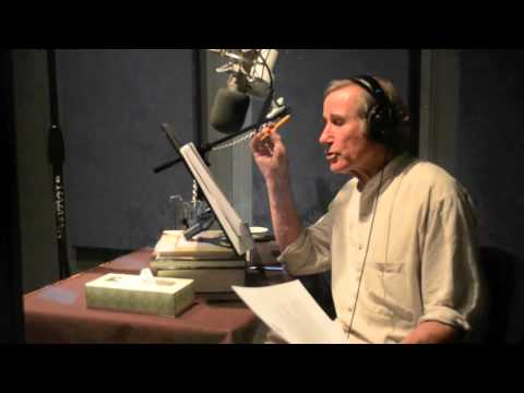 In the Studio with Jim Dale recording The Fire Chronicle