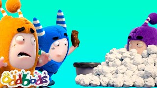ODDBODS | Tangled In A Paper Toss Game | Cartoons For Kids