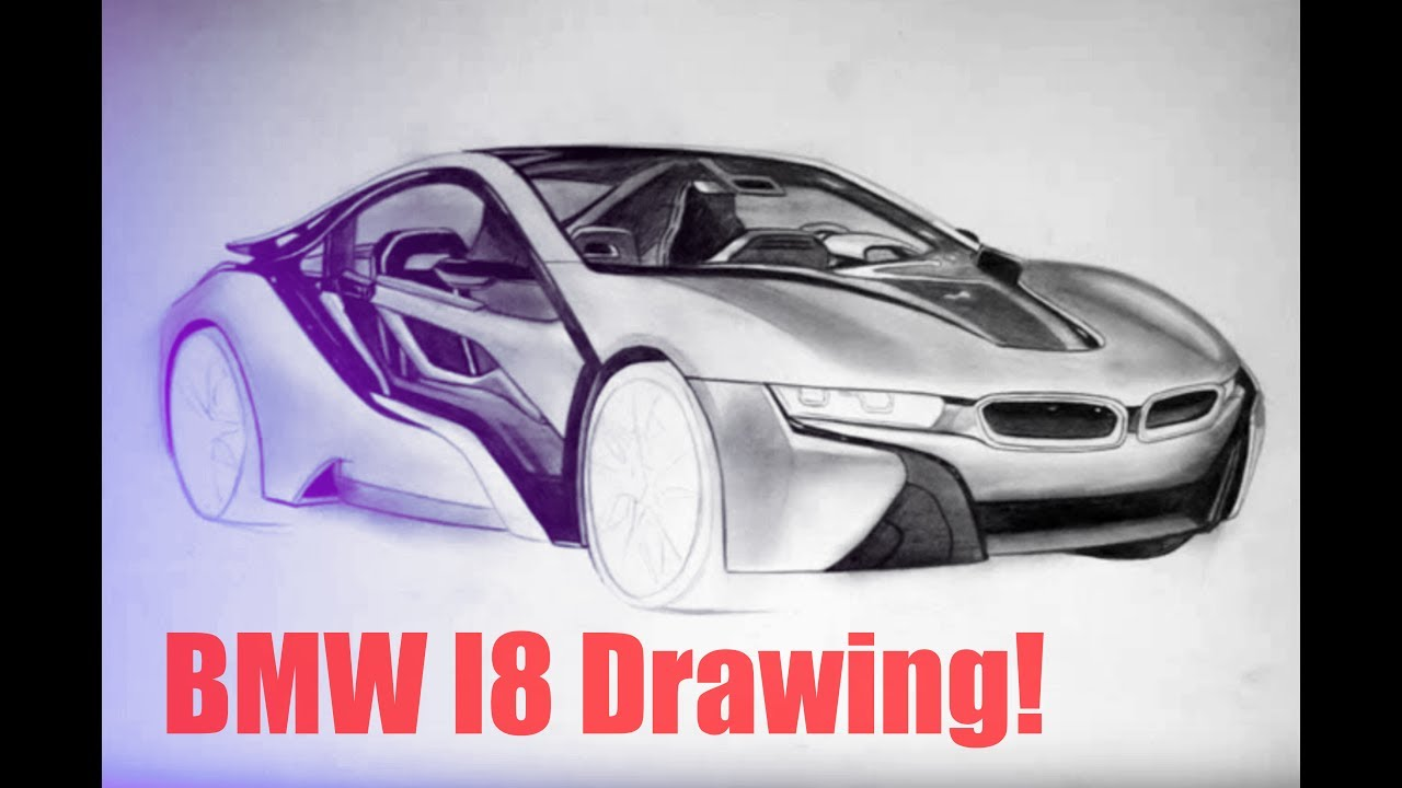 Cardrawing Bmw I8 Zeichnung Step By Step Youtube