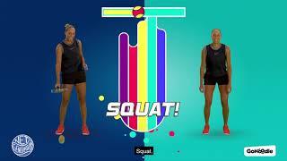 Jump, Squat, Turn Around with Madison Keys