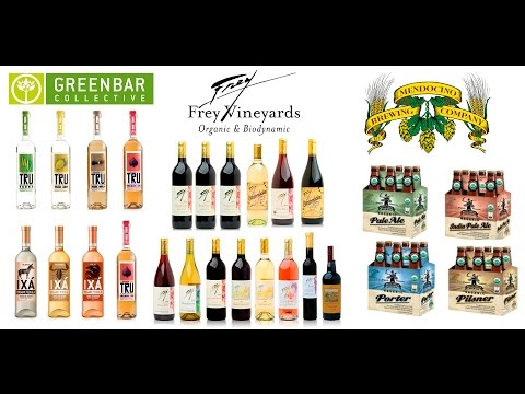 Choose Organic Spirits: Frey Wine-GreenBar Distilleries-Medocino Brewery