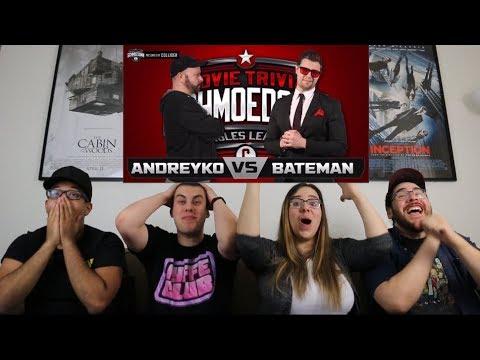 Andreyko Vs Bateman REACTION - Movie Trivia Schmoedown