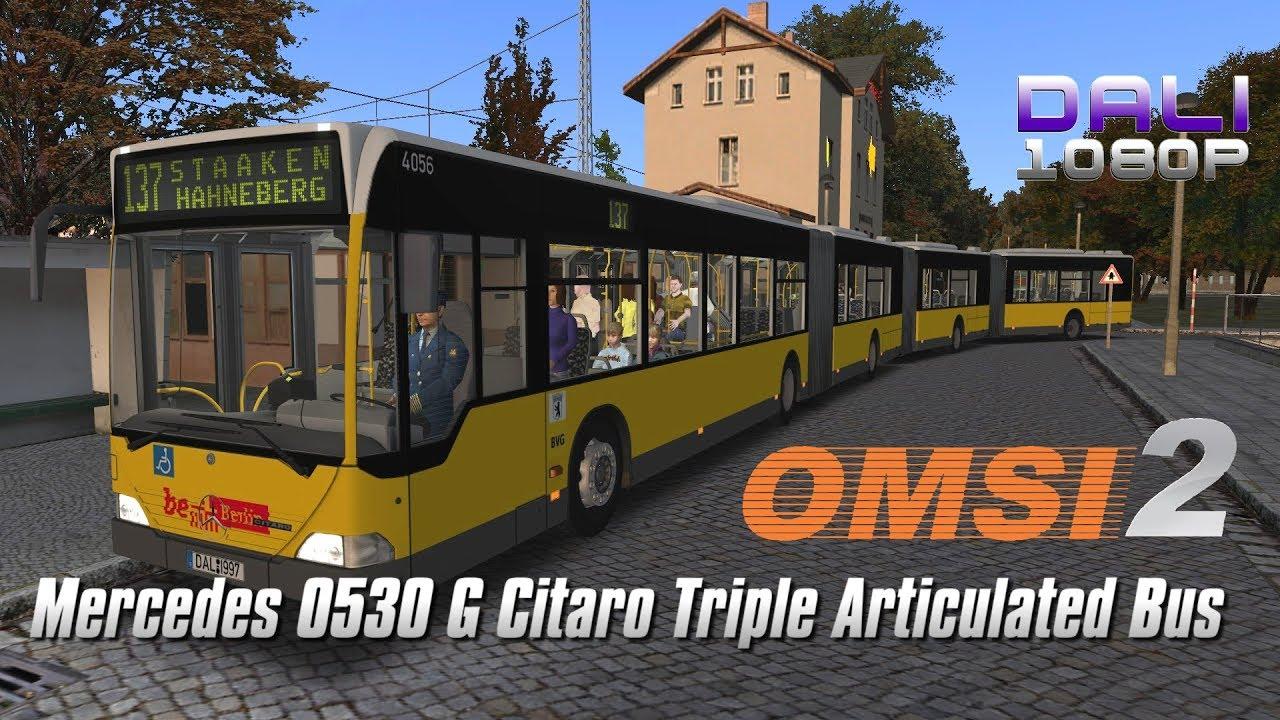 OMSI 2 - Mercedes-Benz O530 GGG Citaro Tri-Articulated Bus (3 Gelenke) - YouTube