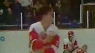 Canada vs Russia 1987 World Junior Hockey Fight