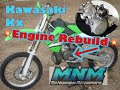 Video 1/3 90-97 Kawasaki KX80 KX 100 Dirt Bike MX Engine Tear Down Motor Rebuild Top End to Cases