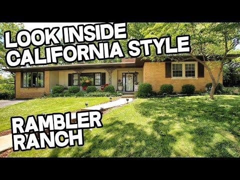 California ranch, rambler rancher, American ranch style house Harrodsburg, Kentucky