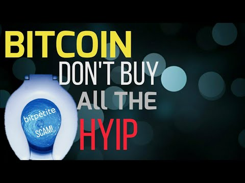 WATCH THIS BEFORE YOU INVEST IN A BITCOIN HYIP! My last youtube video.