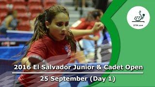 2016 ITTF El Salvador Junior & Cadet Open - Day 1