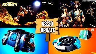 🔴 *NEW* FORTNITE V8.30 UPDATE LEAKS, ITEMSHOP, BUCCANEER'S BOUNTY CHALLENGES BATTLE ROYALE LIVE