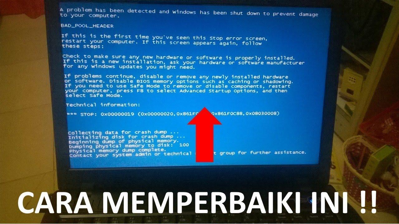 Cara Mudah Mengatasi Layar Biru Blue Screen Di Laptop Atau Pc