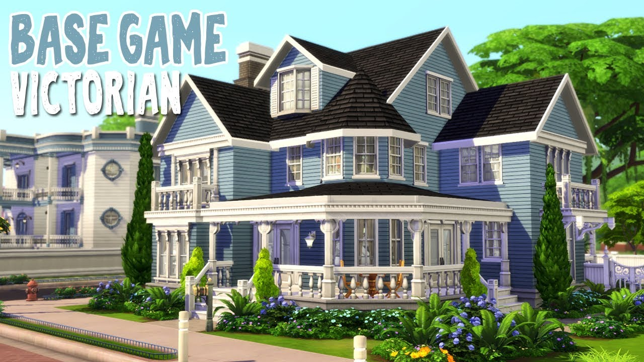 Base Game Victorian || The Sims 4 Family Home: Speed Build