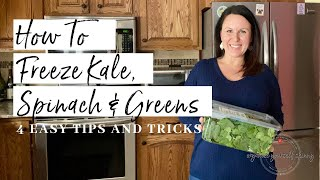 How to Freeze Kale, Spinach, aฑd Greens