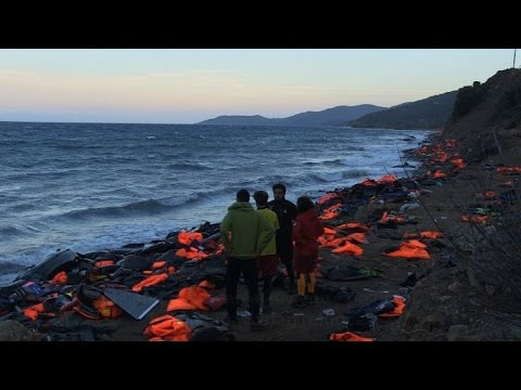 Ghosts of migrants past on Lesbos