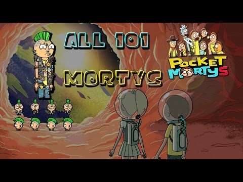 Pocket Mortys Complete Morty Deck. All 101 Mortys. Rick and Morty Mobile Game