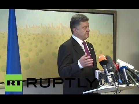 Poland: Russia lurking behind strife in east Ukraine, says Poroshenko
