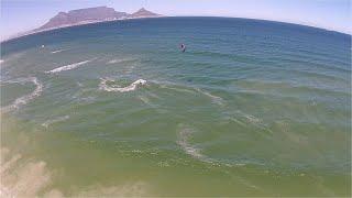 11. dag på vandet i Sydafrika, Cape Town, Kitesurfing 2015 ved Dolphin Beach