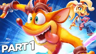 CRASH BANDICOOT 4 IT'S ABOUT TIME Walkthrough Gameplay Part 1 - INTRO (FULL GAME)