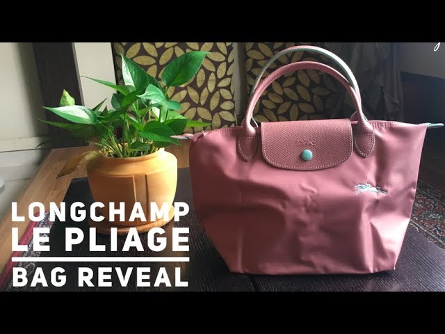 Longchamp Le Pliage in Antique Pink | Bag Reveal - YouTube