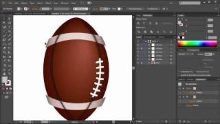 American football / How to draw in Adobe illustrator / Как рисовать векторную графику / Уроки