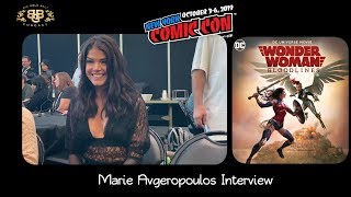 NYCC 2019 | Wonder Woman: Bloodlines | Actor Marie Avgeropoulos Interview