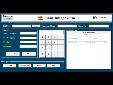 Retail Management System In Python With Database #Webcode