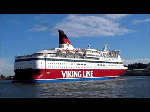 Viking Line Cruiseferry - MS Gabriella Leaving Helsinki South Harbour - Finland