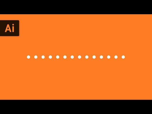 How to Make a Dotted Line | Illustrator Tutorial