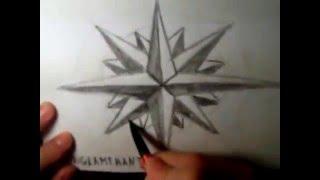 Как нарисовать Розу Ветров простым карандашом, от KONGLAMERANTUS 2014(Помнится когда то и я учился в художественной школе. И вот прошли годы, а рисовать я не перестал. И так дороги..., 2014-03-13T10:12:32.000Z)