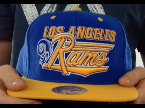 Rams  TAILSWEEP SNAPBACK  Royal-Gold Hat by Mitchell and Ness - YouTube d52fc6f4fd57