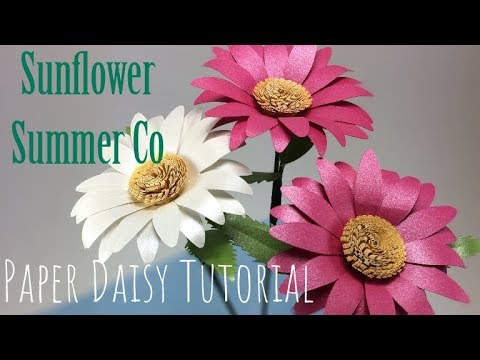 DIY Paper Flower Daisy Pattern