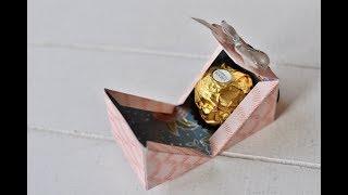 Box mit diagonalem Verschluss für Ferrero Rocher | Stampin