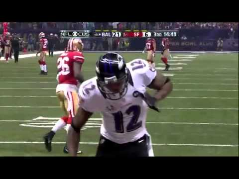 Jacoby Jones 109-Yard Kickoff Return Super Bowl XLVII 2013 [HD]