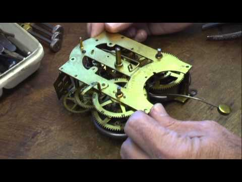 Repairing Ansonia time & strike clock Part 1. How to repair a clock