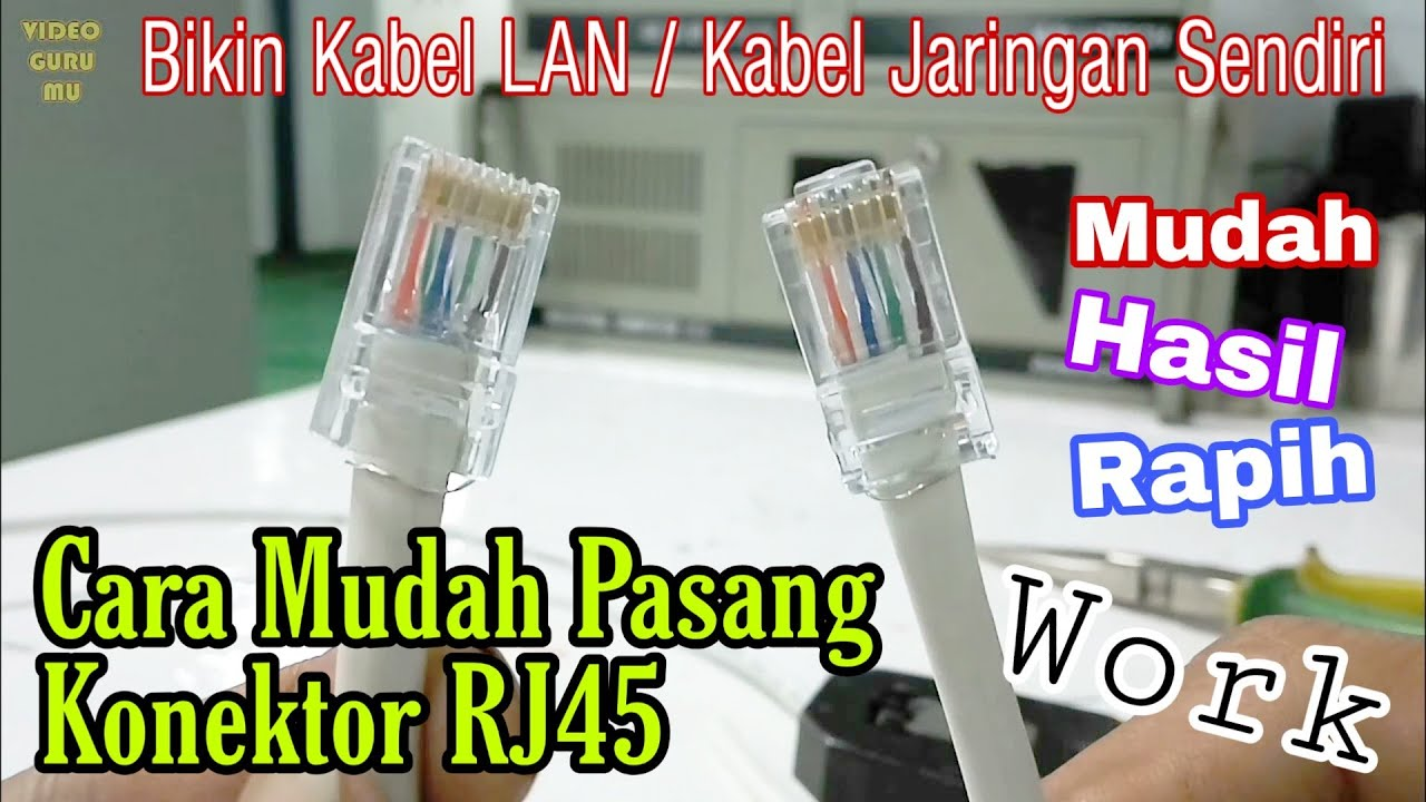 Tutorial Memasang RJ45 Kabel LAN / Kabel UTP Yang Benar