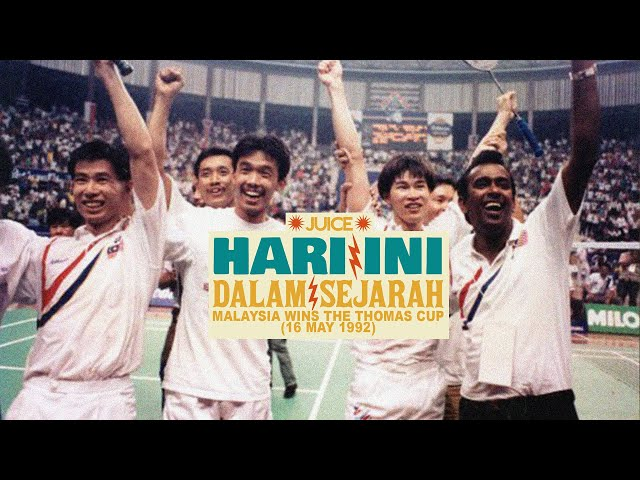 Malaysia Wins The Thomas Cup in 1992