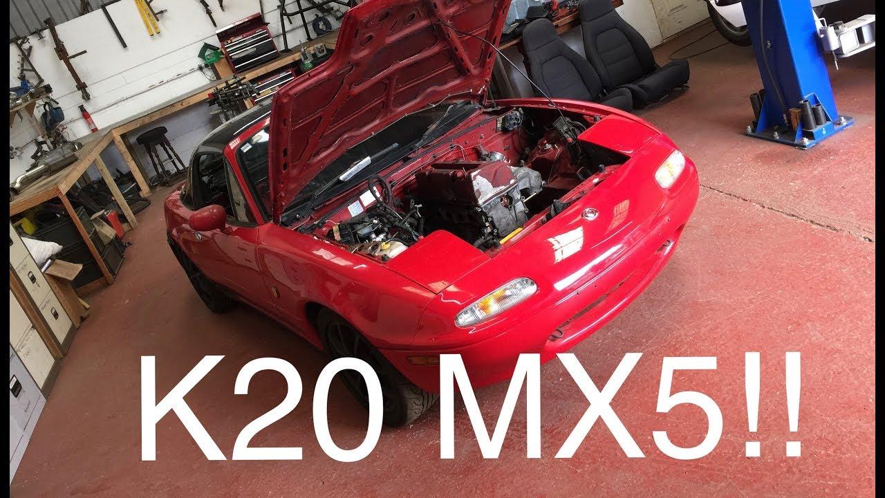 K20 SWAPPED MAZDA MX5?!?!? - YouTube