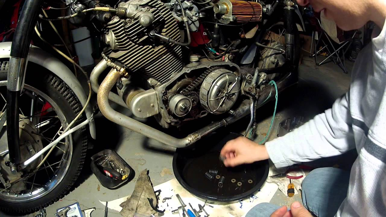 An Motorcycle Wiring Diagram 1966 Honda Cb77 Restoration 8 Clutch Replacement Youtube