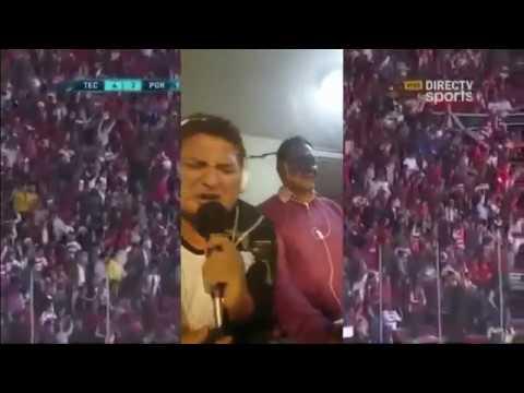 El gol histórico del Técnico Universitario narrado por Sebastián Nuñez y Rubén Fernando Mariño