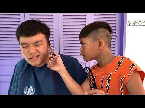 Khi Để Trẻ Con Cắt Tóc ( When the kid cuts his hair )