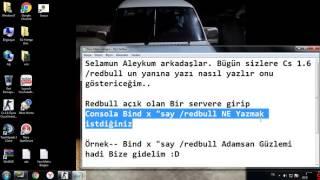 Cs 1.6 Eğitim | /redbull Yanına Yazı nasıl yazılır? #1