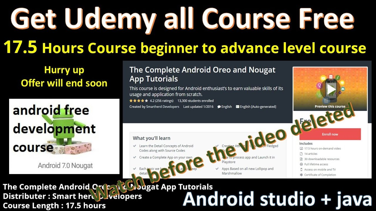 download all udemy course free 2019 | udemy paid course free | udemy  android course