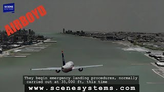 US Airways Flight 1549 HD Animation - Hudson Landing