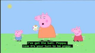 Peppa Pig (Series 1) - Piggy In The Middle (with subtitles)