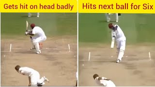 Brutal Bouncers hitting Batsmen and then batsmen