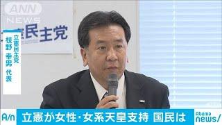 「女性とその子ども」天皇に 立憲が党内議論まとめ(19/06/11)