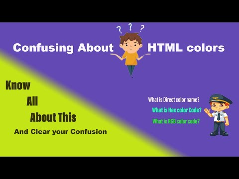 Learn About HTML Color | Color Code In HTML | With New HTML5 Updates In Hindi